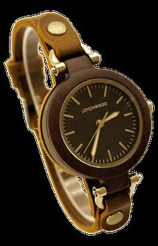 """Armbanduhr aus Ebenholz, """"Milano black"""""""