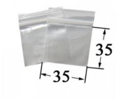 Druckverschlussbeutel - 3.5 mal 3.5cm VE100 50 µ