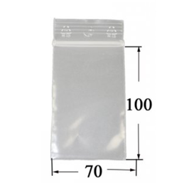 Druckverschlussbeutel - 7 mal 10cm, 100er B. 50 µ