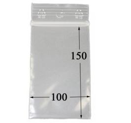 Druckverschlussbeutel - 10 mal 15cm, 100er Beutel 50 µ