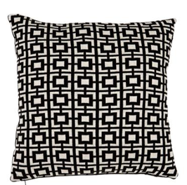 PILLOW ABSTRACT SQUARES SET OF 2