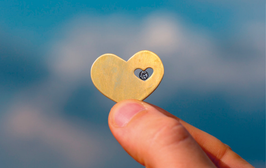 Herz im Herz mit einem Diamanten-unterschiedliche Qualität- M3D