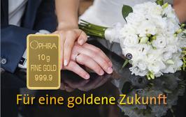 Für eine goldene Zukunft mit einem Diamanten und einem Goldbarren - M6DG
