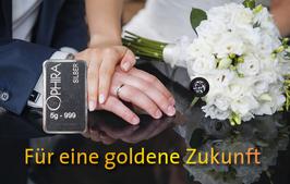Hochzeit mit einem Diamanten, einem Silberbarren und Etui - M6DS