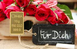 Für Dich mit einem Diamanten und einem Goldbarren - M1DG