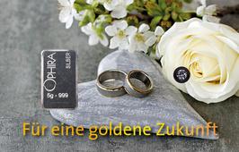 Hochzeit mit einem Diamanten, einem Silberbarren und Etui - M8DS