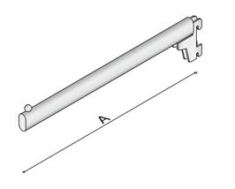 Gerade Frontabhängung für Wandschiene L36