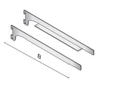 Paar-Bodenträger für Boden 2,5 cm Dichtung L39cm, 5er Pack Set (5x2 Konsolen)