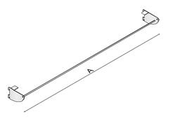 Bodenträger 67 cm mit Gestänge 0,8-0,25 cm Dichtung