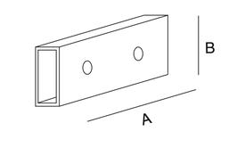 Abstandsstück für Paneel für Rundsteckhülse (4 Stk. je)