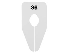 Größentrenner für Rund-/Ovalrohr, weiß/schwarze Schrift