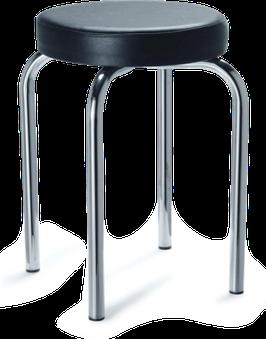 Probierhocker, rund, mit 4 Beinen