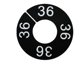 LP-Größenscheibe, schwarz/weiße Schrift