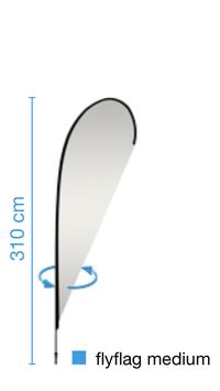 flyflag medium, inkl. Druck