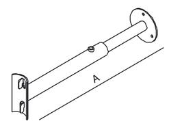 Abstandstück für Wandstruktur