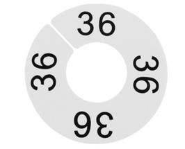 LP-Größenscheibe, weiß/schwarze Schrift