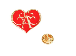 Alice Initial Brooch