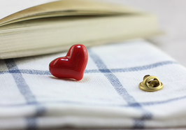 Porcelain Heart Brooch