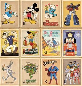 Cartoon Vintage Style Post Card