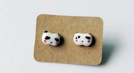 Porcelain Panda Studs