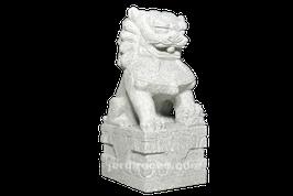 Lion chinois en granite 70 cm (vendu par paire)
