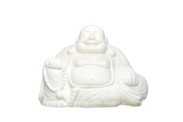 Bouddha rieur en marbre blanc 50 cm