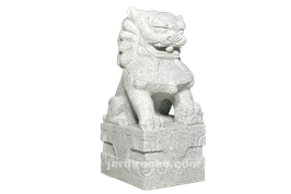 Lion chinois en granite 70 cm