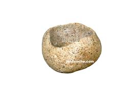 Galet creusé en pot 14-18 cm (Pierre Naturelle)