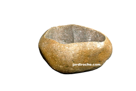 Galet creusé en pot 22-25 cm (Pierre Naturelle)