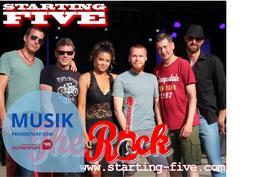 """""""Starting Five"""" am Freitag, 10.09.2021, 19.00 Uhr, bestuhlt auf der Picknickwiese"""