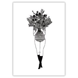 """Postkarte Helen B """"Flower Girl"""""""