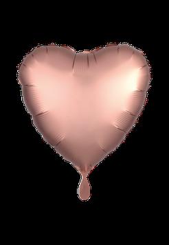 Folienballon Herz Rosegold