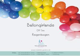 Ballongirlande DIY Set Regenbogen