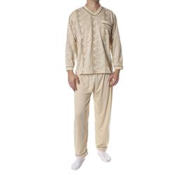 Flanellen heren pyjama BEIGE