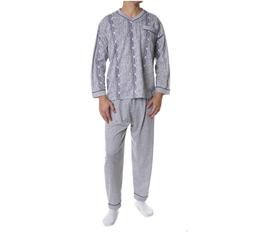 Flanellen heren pyjama GRIJS