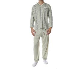 Flanellen heren pyjama GROEN