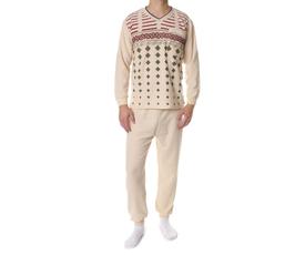 Badstof heren pyjama BEIGE