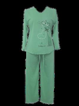 NewLook dames pyjama poes GROEN