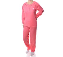 Badstof dames pyjama  ORANJE