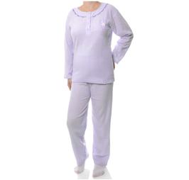 Badstof dames pyjama LILA