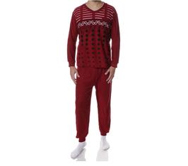 Badstof heren pyjama ROOD
