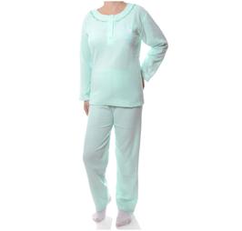 Badstof dames pyjama GROEN