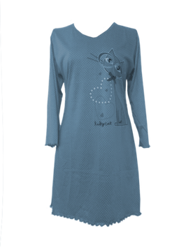 NewLook dames nachthemd poes BLAUW