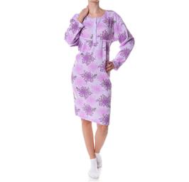 Badstof dames nachthemd LILA