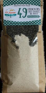 Crackers aux graines de pavot