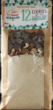 Préparation pour cookies aux noix / noisettes / tout choco