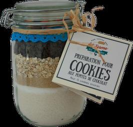 Préparation pour cookies aux pépites de chocolat et flocons d'avoine (pot)