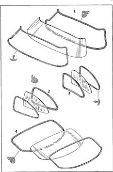 VgNr. 1986730120 Dichtung Seitenfenster hinten links Abdichtrahmen  OE  left rear seal rubber W198 300SL Flügeltürer