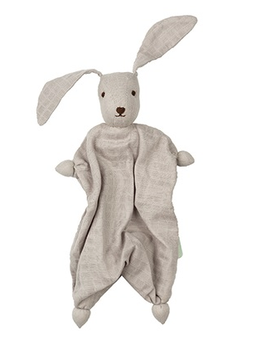 doudou Tino le lapin bio tetra gris, Hoppa