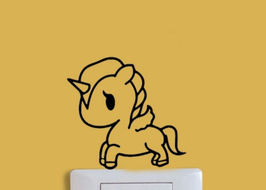 Sticker Licorne pour interrupteur